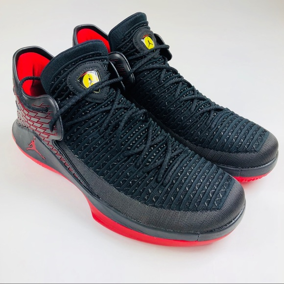 0a9116d42917 Nike Air Jordan XXXII Low Last Shot Black Red Shoe